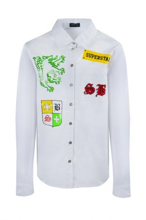 Рубашка STEFANIA. Цвет: белый