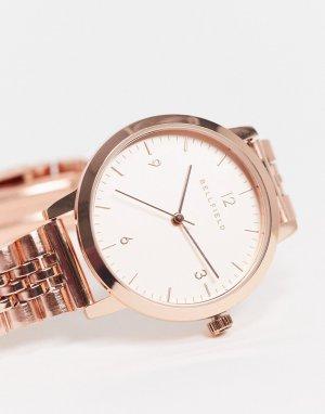 Часы с браслетом из нержавеющей стали -Золотистый Bellfield