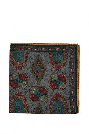 Карманный платок ETON. Цвет: синий, зеленый, оливковый, гор