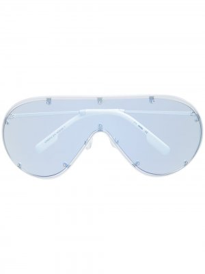 Солнцезащитные очки-маска Kenzo. Цвет: белый