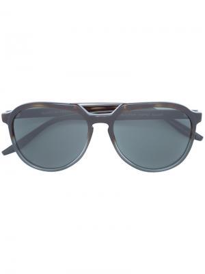 Солнцезащитные очки авиаторы Barton Perreira. Цвет: коричневый