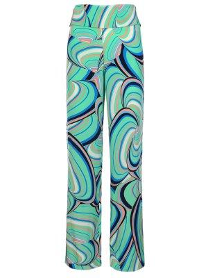 Шелковые брюки с принтом ISSA London. Цвет: разноцветный
