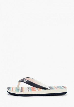 Сланцы Roxy RG TAHITI VI. Цвет: синий