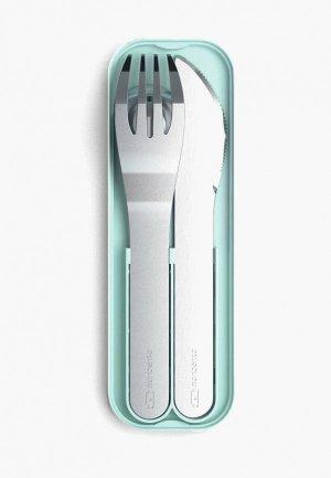Набор столовых приборов monbento MB Pocket. Цвет: серебряный