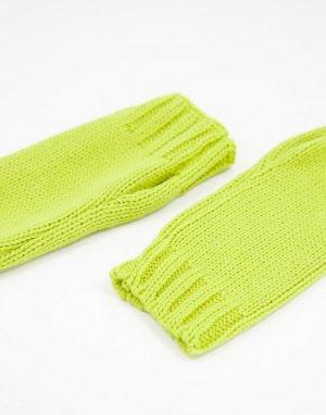 Лаймовые митенки -Зеленый цвет ASOS DESIGN