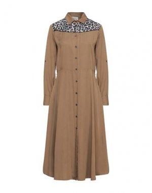 Платье длиной 3/4 DIXIE. Цвет: хаки