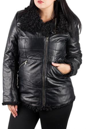 Кожаная куртка HERRMANN. Цвет: черный