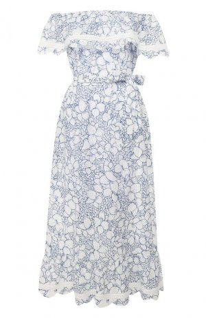 Хлопковое платье Marysia. Цвет: белый