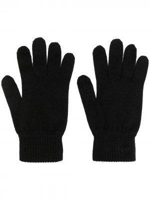 Перчатки с вышитым логотипом Armani Exchange. Цвет: черный