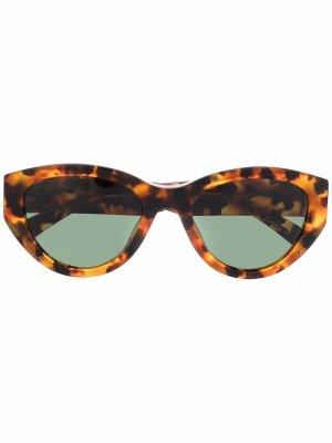 Солнцезащитные очки в оправе кошачий глаз ANINE BING. Цвет: коричневый