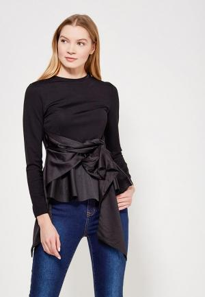 Блуза Lost Ink Petite P BIG BOW PEPLUM TOP. Цвет: черный
