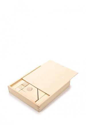 Конструктор Paremo Деревянный. Неокрашенный. 51 деталь. В деревянном ящике. Цвет: разноцветный