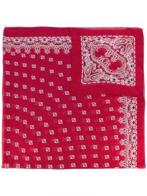 Платок с узором Saint Laurent. Цвет: красный