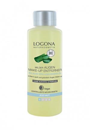Средство для снятия макияжа Logona с глаз c Био-Алоэ и Био-Миндалем, 100 мл. Цвет: прозрачный