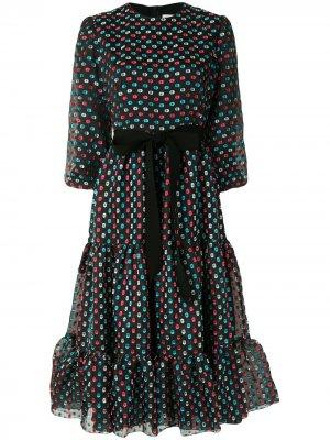 Flared fil-coupé dress Erdem. Цвет: черный