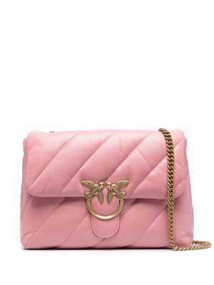 Love quilted leather bag Pinko. Цвет: розовый