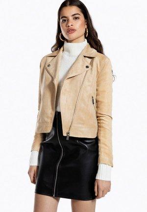 Куртка кожаная Ivyrevel. Цвет: бежевый
