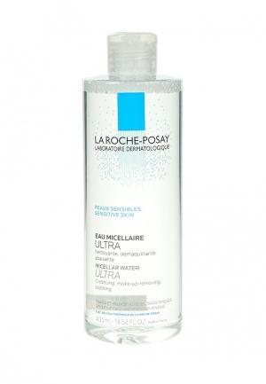 Мицеллярная вода La Roche-Posay ULTRA SENSITIVE для чувствительной кожи лица и глаз, 400 мл. Цвет: прозрачный