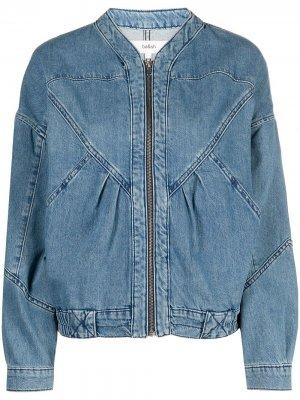 Джинсовая куртка Louve на молнии Ba&Sh. Цвет: синий