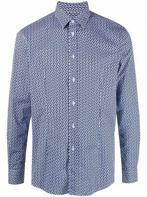 Рубашка с цветочным принтом Grey Daniele Alessandrini. Цвет: синий