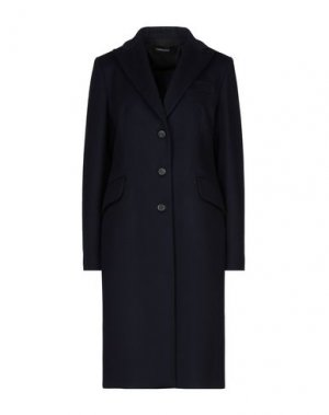 Пальто FABRIZIO LENZI. Цвет: темно-синий