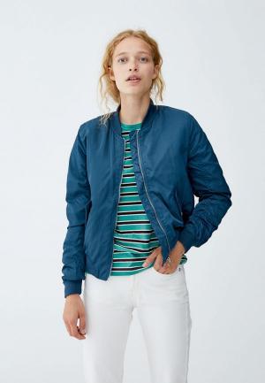 Куртка утепленная Pull&Bear. Цвет: зеленый
