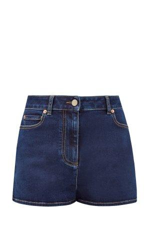Джинсовые шорты с литой символикой VALENTINO. Цвет: синий