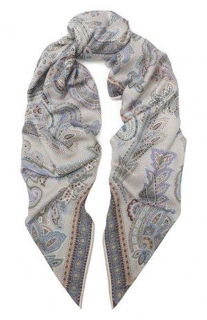Платок из смеси кашемира и шелка Michele Binda. Цвет: разноцветный