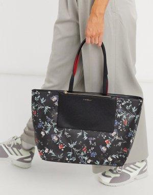 Сумка-тоут с длинным ремешком и цветочным принтом Laura-Мульти Fiorelli