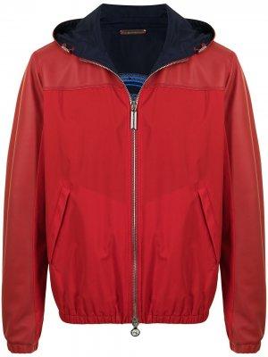 Куртка с тисненым логотипом Stefano Ricci. Цвет: красный