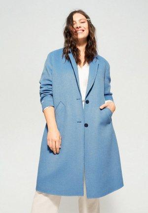 Пальто Violeta by Mango - BANS6. Цвет: голубой