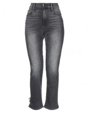 Джинсовые брюки-капри FRAME. Цвет: черный