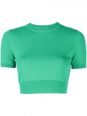 Укороченная футболка Finzi Alexis. Цвет: зеленый