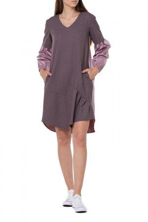 Платье Adzhedo. Цвет: брусничный, бордовый, рябушка