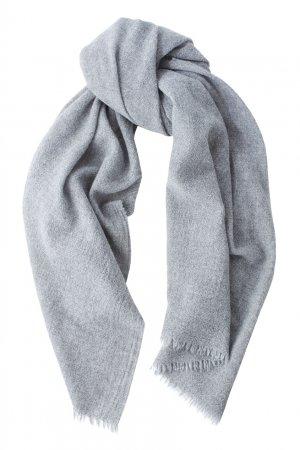 Однотонный шарф из шерсти и кашемира Bruuns Bazaar. Цвет: серый