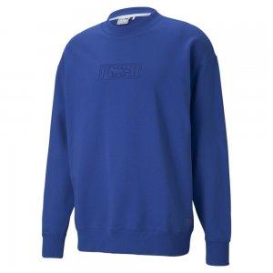 Толстовка x MAISON KITSUNÉ Crew Neck Sweatshirt PUMA. Цвет: синий