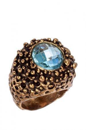 Кольцо ALCOZER. Цвет: золотой, голубой