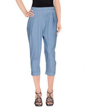 Джинсовые брюки-капри ROSE' A POIS. Цвет: синий