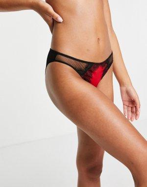 Красные бразильские трусы Siren-Красный Ann Summers