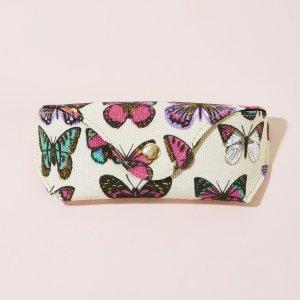 Чехол для очков с узором бабочки SHEIN. Цвет: многоцветный