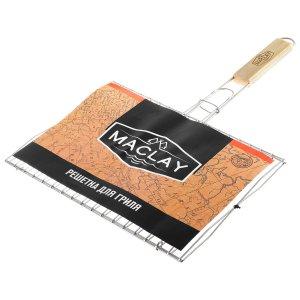 Решётка-гриль для рыбы двойная maclay, нержавеющая сталь, размер 33,8 × 250 см Maclay