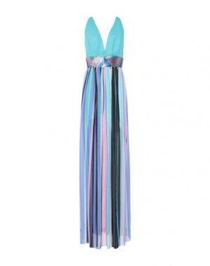 Длинное платье ALESSANDRO LEGORA. Цвет: светло-зеленый