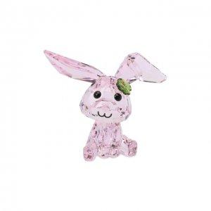 Скульптура Lucky the rabbit Swarovski. Цвет: розовый