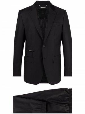 Костюм-двойка с однобортным пиджаком Philipp Plein. Цвет: черный