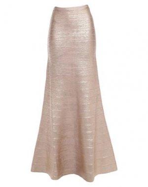Длинная юбка HERVÉ LÉGER. Цвет: медный
