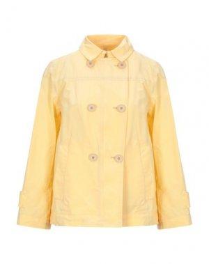 Легкое пальто GEOSPIRIT. Цвет: желтый