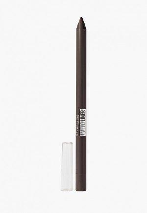 Карандаш для глаз Maybelline New York TATOO LINER интенсивный цвет, гелевый,  оттенок 910, Каштановый, 1.3 г. Цвет: коричневый