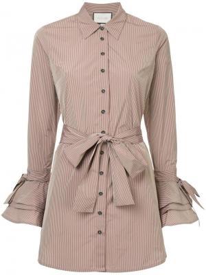 Платье-рубашка с оборками Alexis
