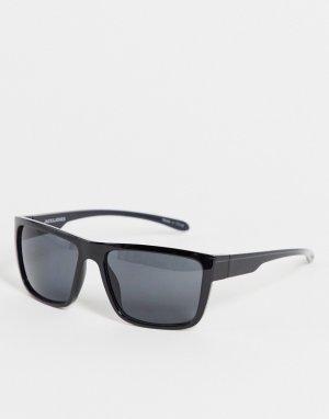 Черные солнцезащитные очки с черепаховым дизайном -Черный цвет Jack & Jones