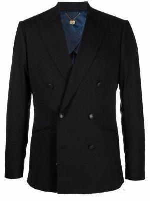 Двубортный пиджак Maurizio Miri. Цвет: черный